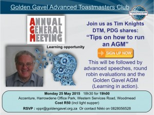 Toastmasters Annual General Meeting