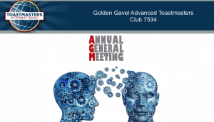 Tips on how to run a Toastmasters Annual General Meeting (AGM)
